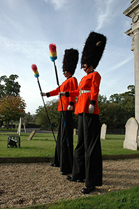 guardsmen on stilts
